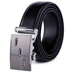 Men's Leather Ratchet Belt Automatic Sliding Buckle Designer -