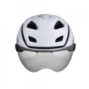 L-002 Bicycle Helmet Bike Cycling Adult Adjustable Unisex Safety with Visor Len -