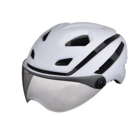 Store L-002 Bicycle Helmet Bike Cycling Adult Adjustable Unisex Safety with Visor Len