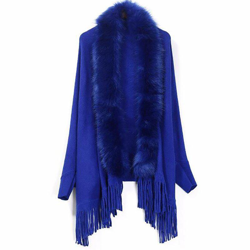 Outfits Women's Casual Daily Street Tassel Fur Coat Faux Fur