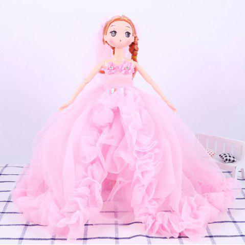 Unique 30 CM Fashionable Large Trailer Wedding Dress Doll Toy Pendant