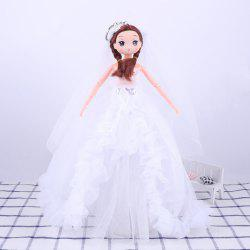 30 CM Fashionable Large Trailer Wedding Dress Doll Toy Pendant -