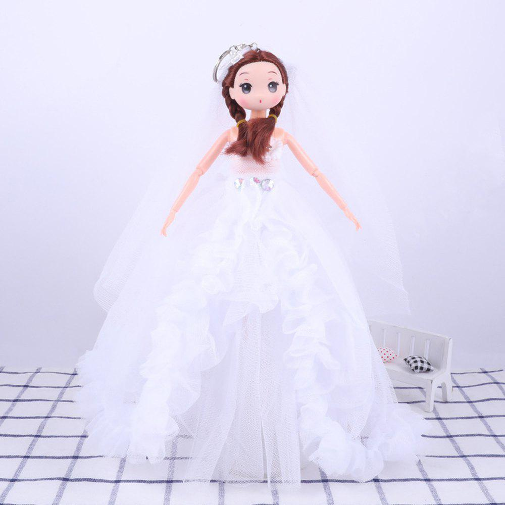 Online 30 CM Fashionable Large Trailer Wedding Dress Doll Toy Pendant