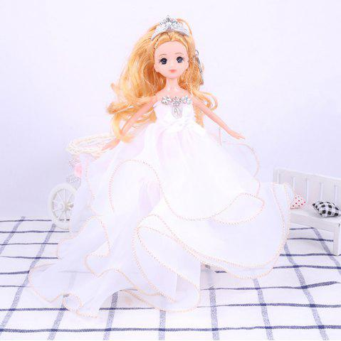 Chic 26 Cm Lovely Lace Wedding Dress Gir Doll Toy Pendant