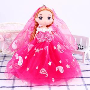 18CM Wedding Dress Creative Cartoon toy Doll pendant -