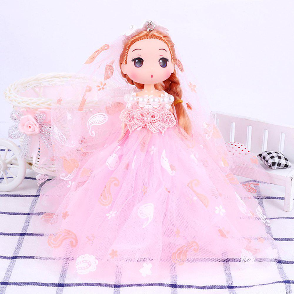Online 18CM Wedding Dress Creative Cartoon toy Doll pendant