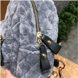 New Velvet Mini Shoulder Bag Female Multi-Functional Fashion Backpack -