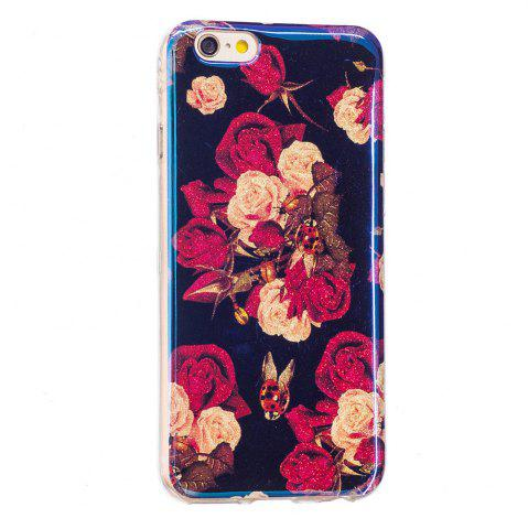 Shops Blue Glitter Flowers Pattern Case for iPhone 6 Plus