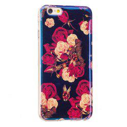 Blue Glitter Flowers Pattern Case for iPhone 6 Plus -