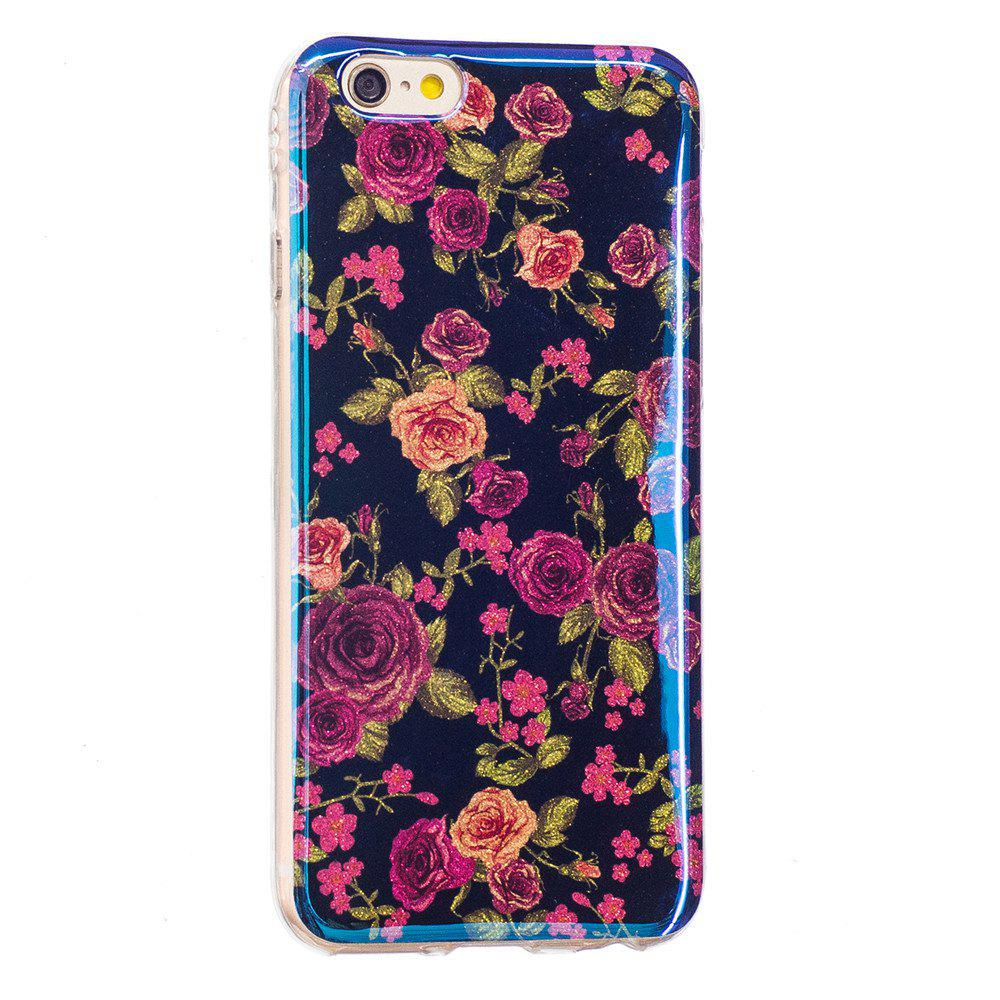 Store Blue Glitter Rose Pattern Case for iPhone 6 Plus