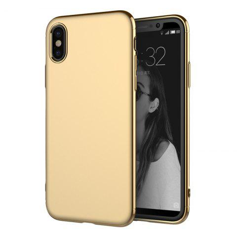 Chic Luxury 3in1 Design Electroplated Matte Hard PC Back Cover for iPhone X Case