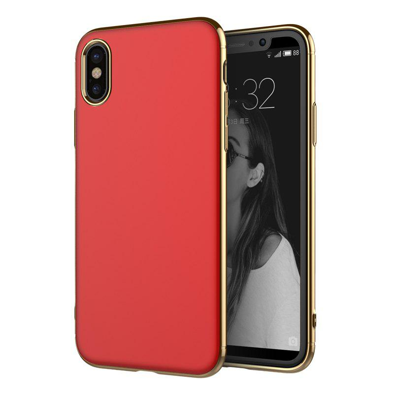 Latest Luxury 3in1 Design Electroplated Matte Hard PC Back Cover for iPhone X Case