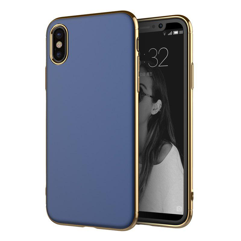 Sale Luxury 3in1 Design Electroplated Matte Hard PC Back Cover for iPhone X Case