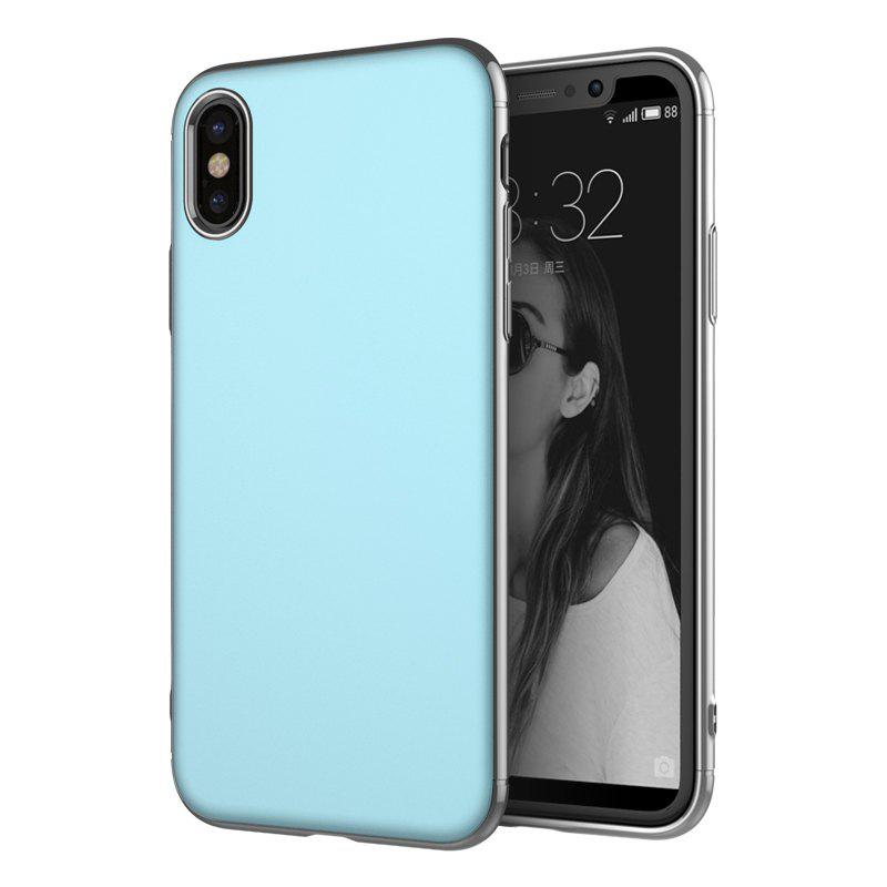New Luxury 3in1 Design Electroplated Matte Hard PC Back Cover for iPhone X Case