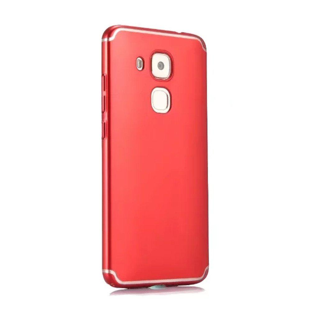 Affordable Embossed Back Cover Solid Color Hard PC for Huawei Head 5 Case