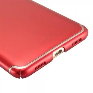 Embossed Back Cover Solid Color Hard PC for Huawei Enjoy 7 Plus Case -