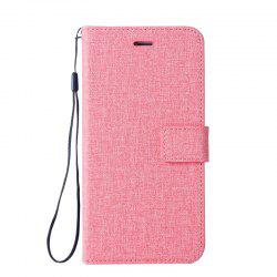 Solid Linen Leather Case with Comfortable Feel for Huawei P10 Plus -