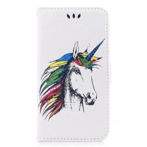 New HD Glitter Colorful Horse Pattern PU Leather Wallet Case for Samsung Galaxy S8 Plus