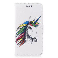 HD Glitter Colorful Horse Pattern PU Leather Wallet Case for Samsung Galaxy S8 Plus -