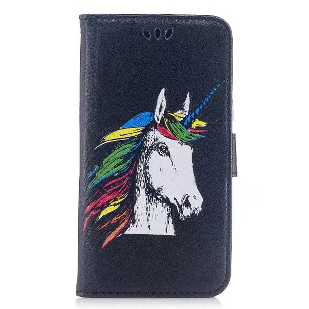 Unique HD Glitter Colorful Horse Pattern PU Leather Wallet Case for Samsung Galaxy S8 Plus