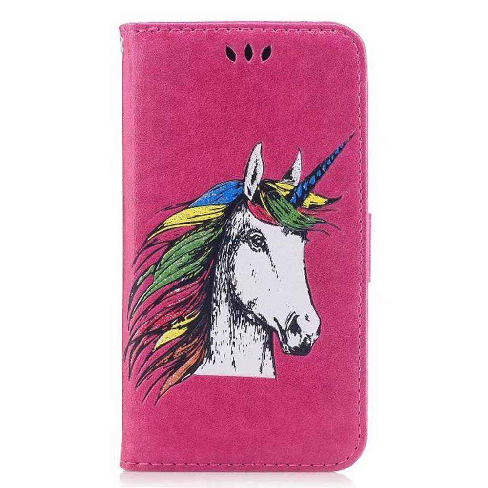 Affordable HD Glitter Colorful Horse Pattern PU Leather Wallet Case for Samsung Galaxy S8 Plus