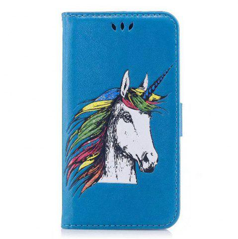 Fashion HD Glitter Colorful Horse Pattern PU Leather Wallet Case for Samsung Galaxy Note 8