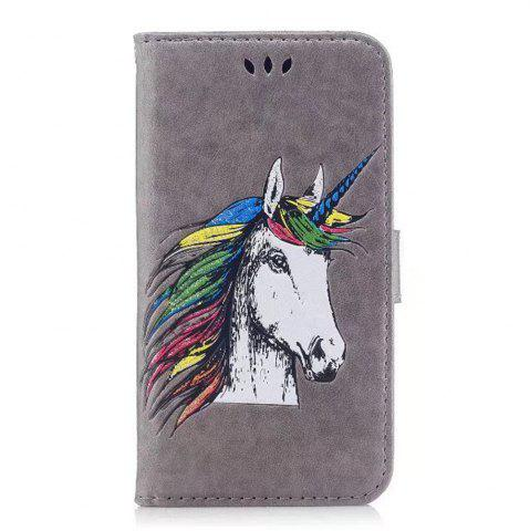 Trendy HD Glitter Colorful Horse Pattern PU Leather Wallet Case for Samsung Galaxy Note 8