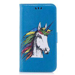 HD Glitter Colorful Horse Pattern PU Leather Wallet Case for Samsung Galaxy Note 8 -