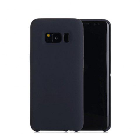 Hot Liquid Silicone Gel Rubber Slim Fit Soft Mobile Phone with Microfiber Cloth Lining Cushion for Samsung Galaxy S8 Plus