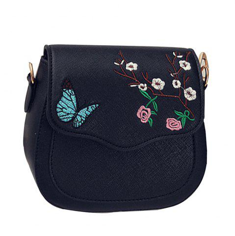 Shops Women's Crossbody Bag Colorblock Flower Butterfly Embroidered Trendy Bag