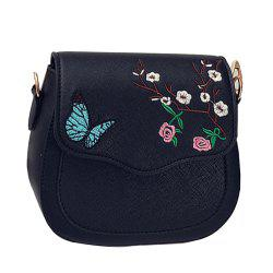 Women's Crossbody Bag Colorblock Flower Butterfly Embroidered Trendy Bag -