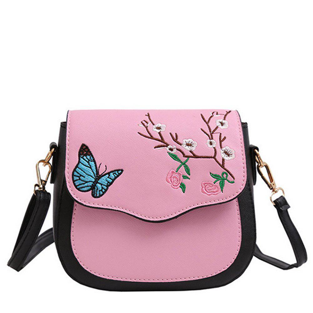 9c6e03b92fd8 Discount Women's Crossbody Bag Colorblock Flower Butterfly Embroidered  Trendy Bag