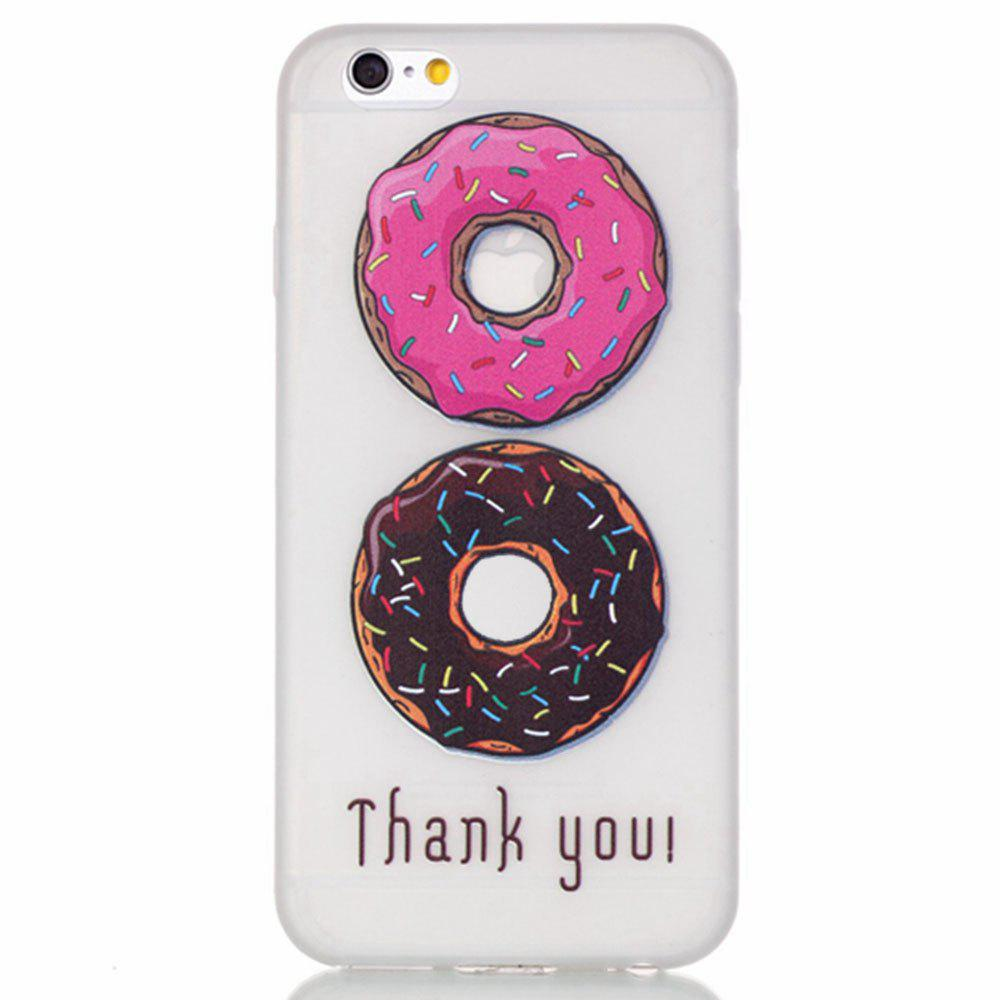 Donuts Luminous Ultra Thin Slim Мягкий силиконовый чехол TPU для iPhone 6 Plus / 6s Plus
