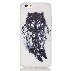 Wolf Luminous Ultra Mince Slim TPU Silicone Case pour iPhone 6 Plus / 6s Plus -