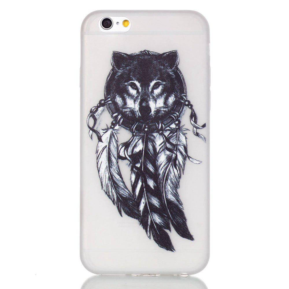 Wolf Luminous Ultra Mince Slim TPU Silicone Case pour iPhone 6 Plus / 6s Plus
