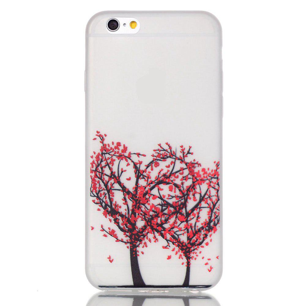 Outfit Red Tree Luminous Ultra Thin Slim Soft TPU Silicone Case for iPhone 6 Plus / 6s Plus