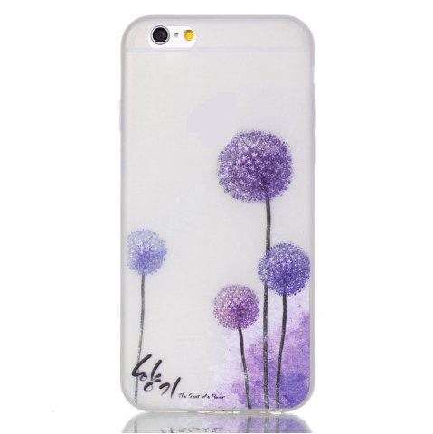 Purple Pissenlit Lumineux Ultra Mince Slim TPU Silicone Case pour iPhone 6 Plus / 6s Plus
