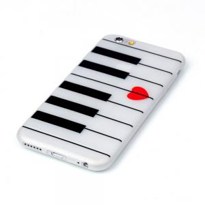 Piano Lumineux Ultra Mince Slim Tpu Silicone Case Pour İphone 6 Plus / 6s Plus -