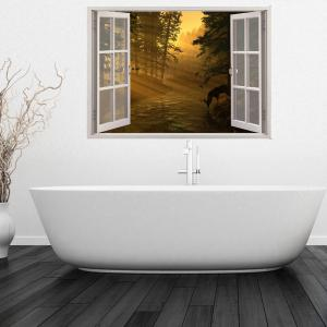 ... Creative 3D Fake Window Bright Morning Wall Stickers ...