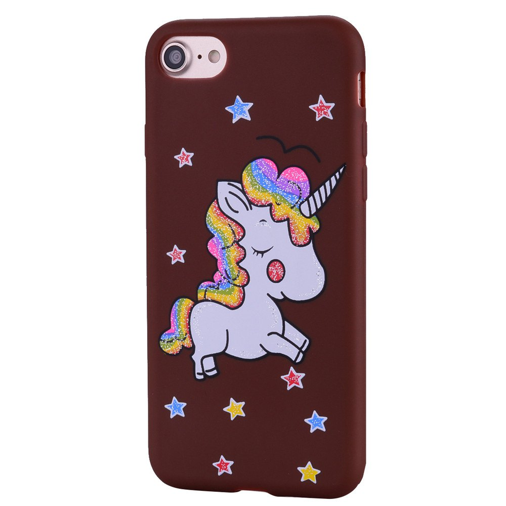 Outfits Cute Unicorn TPU Silicone Gel Soft Clear Case Cover for iPhone 7 / 8