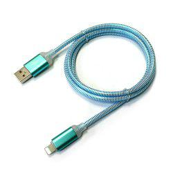 1M Nylon Braid Fast Charger Data Cable for 8 Pin Devices -