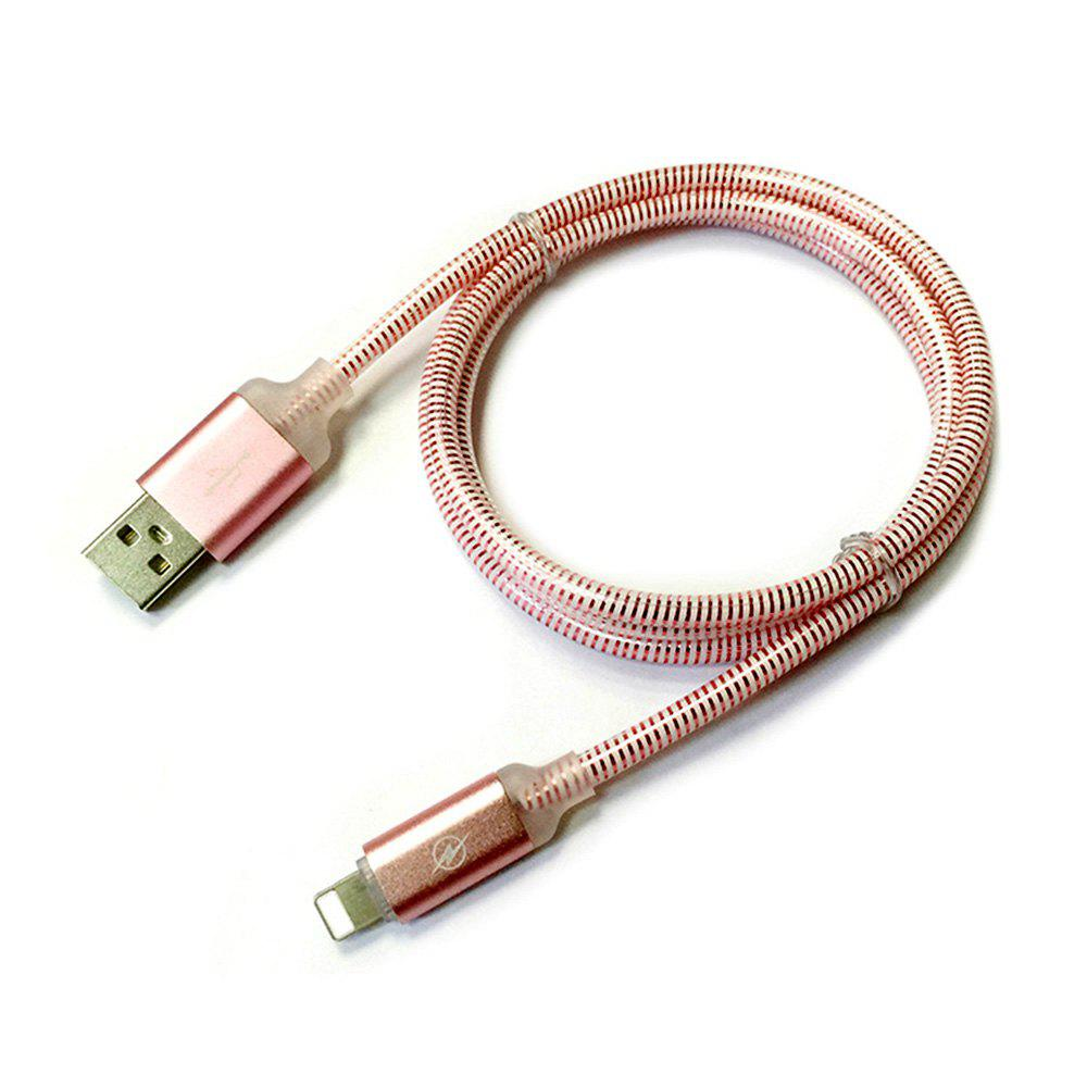 Shop 1M Nylon Braid Fast Charger Data Cable for 8 Pin Devices