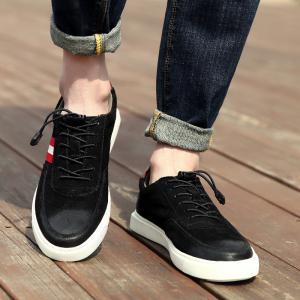 Man'S Leather Casual Comfortable Pigskin Thick Soles Shoes -