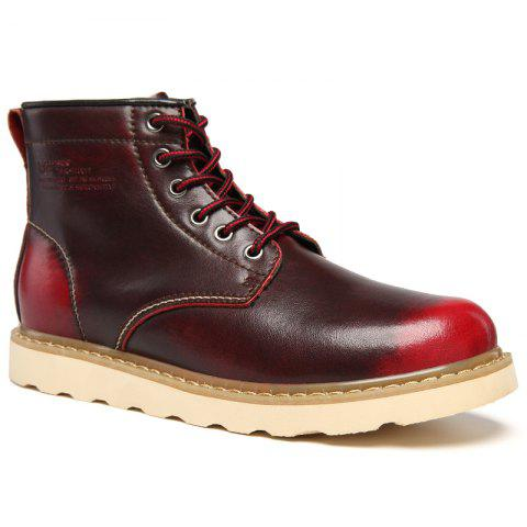 Chic Winter Men Motorcycle Boots Keep Warm