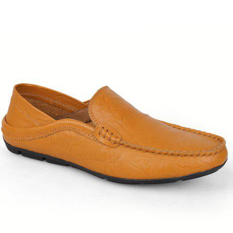 Shop Recreational Leather All-Match Comfortable Breathable Shoes  -  43  ROYAL