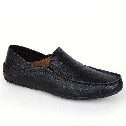Chic Recreational Leather All-Match Comfortable Breathable Shoes  -  43  ROYAL