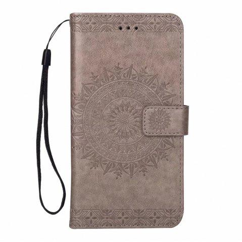Cheap Printing Totem Wallet Polyurethane Leather Wallet Bracket Case for iPhone 7 Plus/ 8 Plus