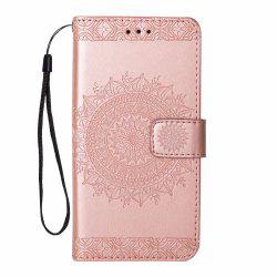 Printing Totem Wallet Polyurethane Leather Wallet Bracket Case for iPhone 7 Plus/ 8 Plus -