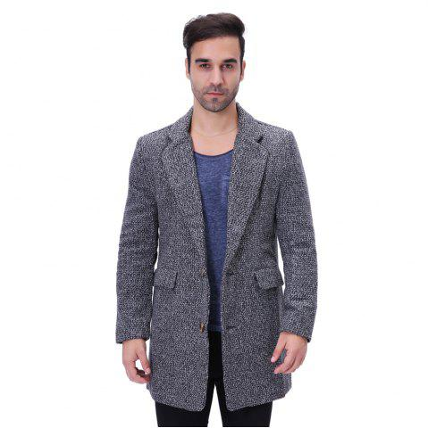 Man Lapel Fashion All-match Long Coat