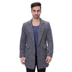 Man Lapel Fashion All-match Long Coat -